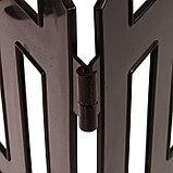Ограждение декоративное, 35 × 210 см, 5 секций, пластик, коричневое, RENESSANS, Greengo, фото 5