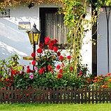 Ограждение декоративное, 35 × 210 см, 5 секций, пластик, коричневое, RENESSANS, Greengo, фото 6