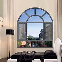 Радиусные алюминиевые окна, фото 1