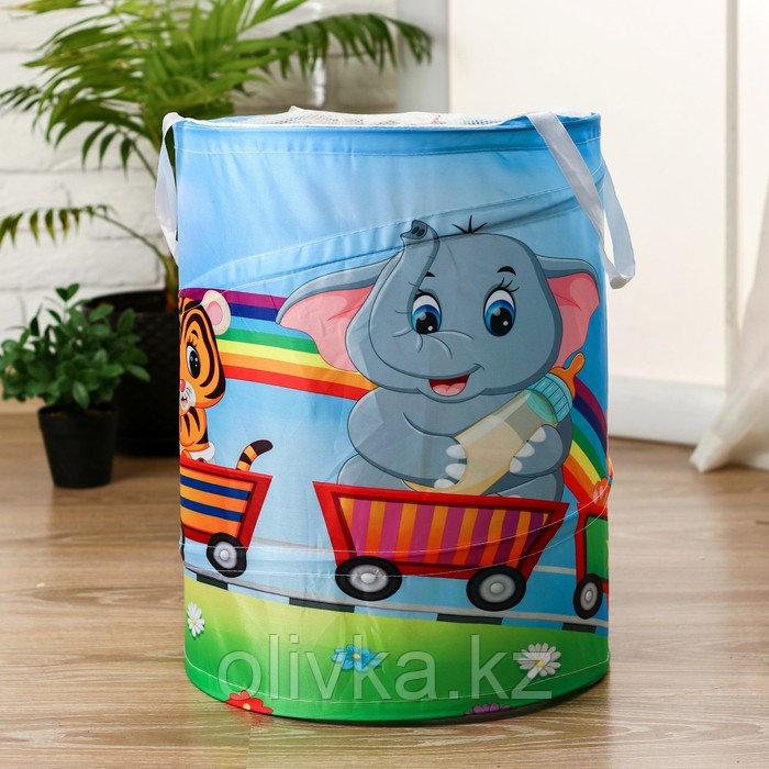 """Корзинка для игрушек """"Паровозик счастья"""" 35×35×45 см"""