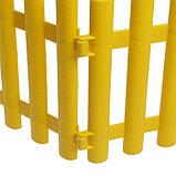 Ограждение декоративное, 30 × 300 см, 5 секций, пластик, жёлтое, фото 5