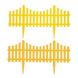 Ограждение декоративное, 30 × 300 см, 5 секций, пластик, жёлтое, фото 6