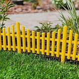 Ограждение декоративное, 30 × 300 см, 5 секций, пластик, жёлтое, фото 8