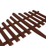 Ограждение декоративное, 30 × 300 см, 5 секций, пластик, коричневое, фото 3