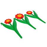 Декоративное ограждение для сада и огорода, 32,5 × 225 см, 5 секций, пластик, красный цветок, «Ромашка», фото 4