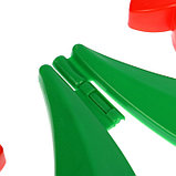 Декоративное ограждение для сада и огорода, 32,5 × 225 см, 5 секций, пластик, красный цветок, «Ромашка», фото 5