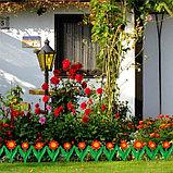 Декоративное ограждение для сада и огорода, 32,5 × 225 см, 5 секций, пластик, красный цветок, «Ромашка», фото 6