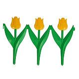 Ограждение декоративное, 30 × 225 см, 5 секций, пластик, жёлтый цветок, «Тюльпан», фото 2