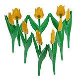 Ограждение декоративное, 30 × 225 см, 5 секций, пластик, жёлтый цветок, «Тюльпан», фото 3