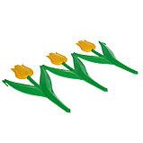 Ограждение декоративное, 30 × 225 см, 5 секций, пластик, жёлтый цветок, «Тюльпан», фото 4