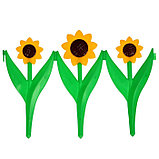 Ограждение декоративное, 32.5 × 225 см, 5 секций, пластик, жёлтый цветок «Ромашка», фото 2