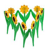 Ограждение декоративное, 32.5 × 225 см, 5 секций, пластик, жёлтый цветок «Ромашка», фото 3