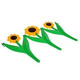 Ограждение декоративное, 32.5 × 225 см, 5 секций, пластик, жёлтый цветок «Ромашка», фото 4