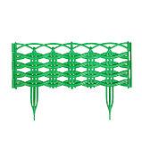 Ограждение декоративное, 25 × 300 см, 8 секций, пластик, зелёное, «Ивушка», фото 2