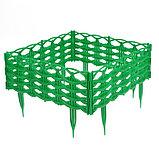 Ограждение декоративное, 25 × 300 см, 8 секций, пластик, зелёное, «Ивушка», фото 3