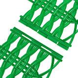 Ограждение декоративное, 25 × 300 см, 8 секций, пластик, зелёное, «Ивушка», фото 4