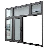 Алюминиевые окна (портальные, распашные, поворотно-откидные, радиусные), фото 1