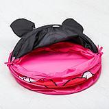 """Корзина для игрушек """"Мои игрушки"""" Минни Маус с ручками и крышкой, фото 4"""