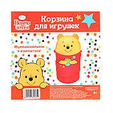 Корзина для игрушек Медвежонок Винни и его друзья с ручками и крышкой, фото 4