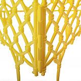 Ограждение декоративное, 28 × 280 см, 7 секций, пластик, жёлтое, «Фаберже», фото 4