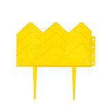 Ограждение декоративное, 14 × 310 см, 13 секций, пластик, жёлтое, «Домиком», фото 2