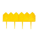 Ограждение декоративное, 14 × 310 см, 13 секций, пластик, жёлтое, «Домиком», фото 3