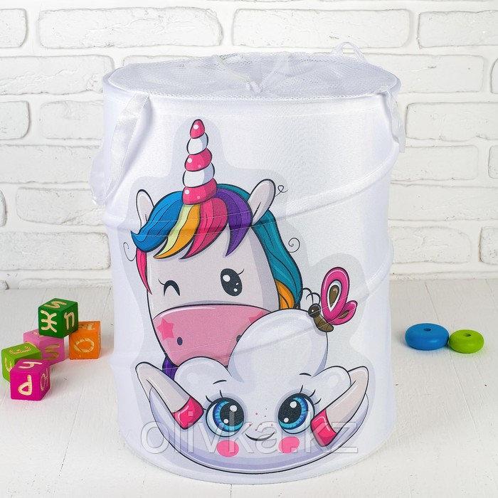 Корзина для хранения игрушек «Единорог» 35×35×45 см
