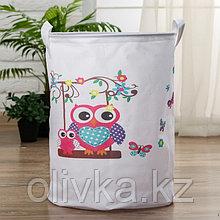 Корзинка для игрушек «Сова» 34×34×45 см
