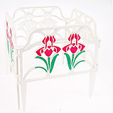 Ограждение декоративное, 30 × 280 см, 10 секций, пластик, «Ирисы», цвет МИКС, фото 6