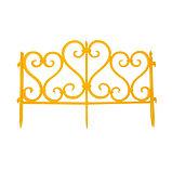 Ограждение декоративное, 32 × 300 см, 6 секций, пластик, жёлтое, фото 2