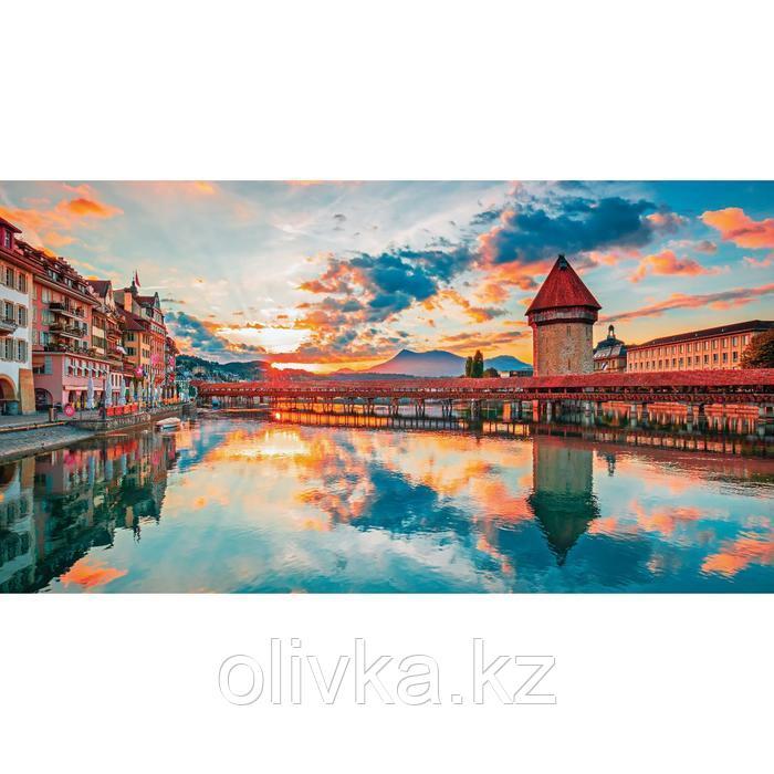 Фотосетка, 300 × 158 см, с фотопечатью, люверсы шаг 1 м, «Европейский рассвет»