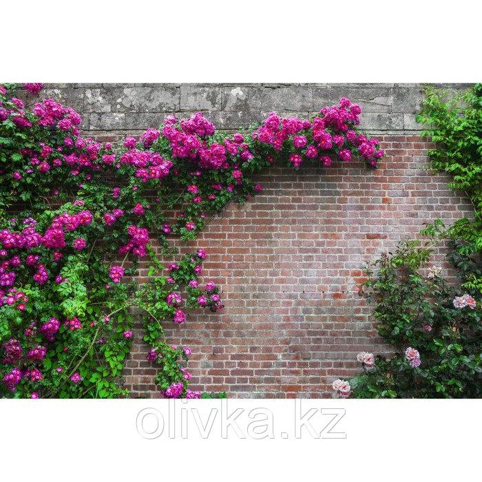 Фотосетка, 300 × 158 см, с фотопечатью, люверсы шаг 1 м, «Кирпичная стена»
