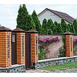 Фотосетка, 300 × 158 см, с фотопечатью, люверсы шаг 1 м, «Кирпичная стена», фото 4