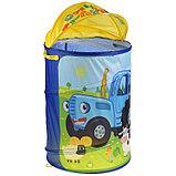 Корзина для игрушек «Синий трактор» 43х60 см, фото 2