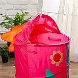 Корзина для игрушек «Цветочек» с ручками и крышкой, фото 2