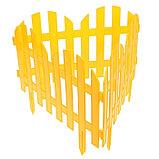 Ограждение декоративное, 28 × 300 см, 7 секций, пластик, жёлтый, фото 3