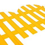 Ограждение декоративное, 28 × 300 см, 7 секций, пластик, жёлтый, фото 4