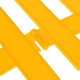 Ограждение декоративное, 28 × 300 см, 7 секций, пластик, жёлтый, фото 5
