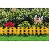 Ограждение декоративное, 28 × 300 см, 7 секций, пластик, жёлтый, фото 8