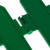 Ограждение декоративное, 28 × 300 см, 7 секций, пластик, зелёный, фото 5