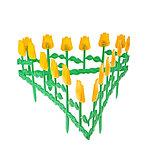 Ограждение декоративное, 30 × 372 см, 6 секций, пластик, МИКС, «Цветник № 1», фото 3