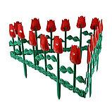 Ограждение декоративное, 30 × 372 см, 6 секций, пластик, МИКС, «Цветник № 1», фото 7