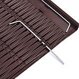 Ограждение декоративное, 29 × 230 см, 4 секций, пластик, коричневое, «Лоза», фото 4