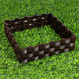 Ограждение декоративное, 19,5 × 240 см, 4 секций, пластик, коричневое, фото 6