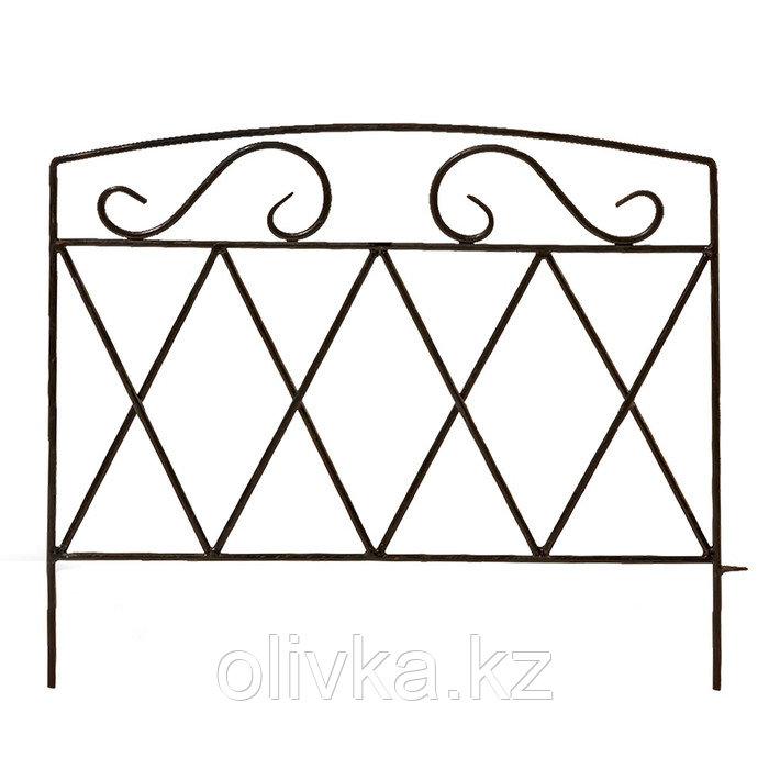 Ограждение декоративное, 54 × 62 см, 1 секция, металл, чёрное