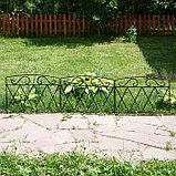 Ограждение декоративное, 54 × 62 см, 1 секция, металл, чёрное, фото 2