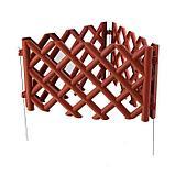 Ограждение декоративное, 41 × 278 см, 4 секции, пластик, коричневое, BAROKKO, Greengo, фото 4
