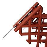 Ограждение декоративное, 41 × 278 см, 4 секции, пластик, коричневое, BAROKKO, Greengo, фото 5