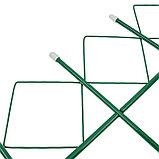 Ограждение декоративное, 71 × 345 см, 5 секций, металл, зелёное, «Кубик», фото 3