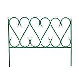 Ограждение декоративное, 54 × 340 см, 5 секций, металл, зелёное, «Изящный», фото 2